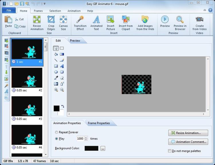 Скачать бесплатно с Rapidshare и DepositFiles Easy Gif Animator.