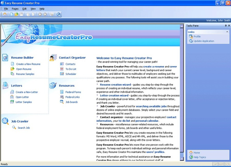 Easy Resume Creator Pro 4.23.37 Screenshot  Resume Maker Free Download