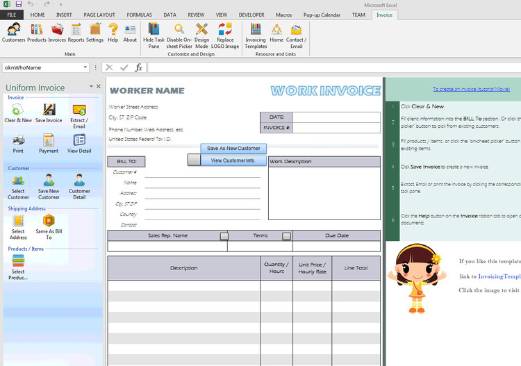 Download Excel Invoice Template X X - Excel invoice templates free download