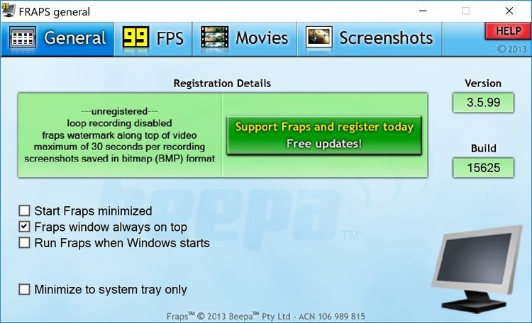 Скачать Beepa Fraps v3.2.3.11796 Rus - программа для снятия мувиков и
