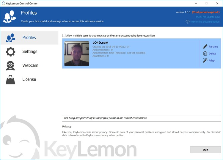 keylemon v. 2.6.1