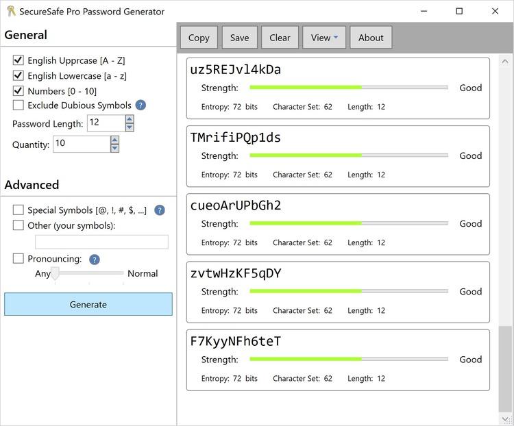 Название программы:Password Generator Версия:1.26 (build 10.08