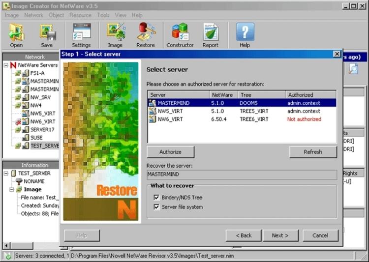 Novell netware revisor 3 8 screenshot