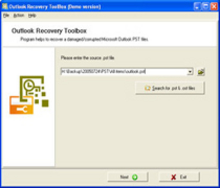 Outlook Recovery ToolBox (Recovery ToolBox). Подробнее о товаре - O&O