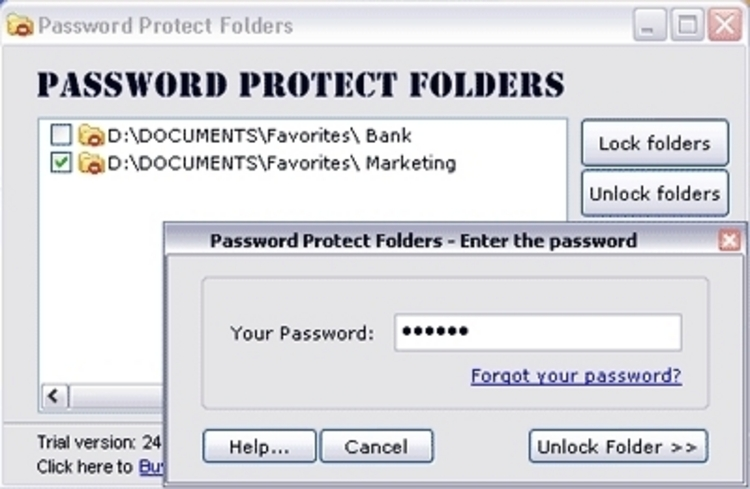 how to make a folder password protected