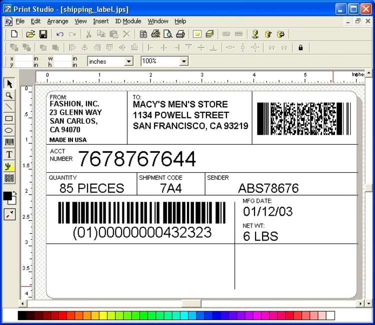 Custom Card Template printing labels : Download Print Studio Label Maker 6.7 (x64 u0026 x32)