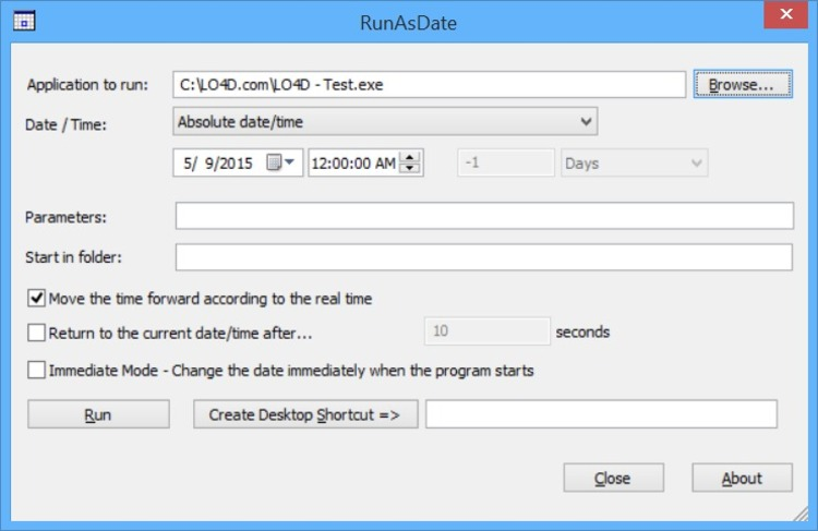 Download RunAsDate - MajorGeeks