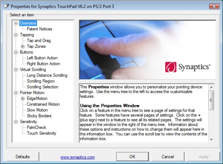 Free Download Synaptics Pointing Device Driver